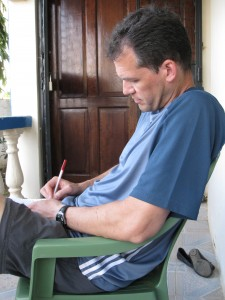 Ken, writing in Kenya